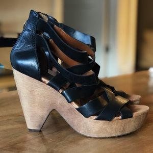 Lucky Brand Shoes - Lucky Brand Black Strap Heels
